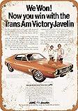 onepicebest - Cartel de Aluminio Retro de 7 x 10 Pulgadas - 1972 AMC Trans Am Victory Javelin - Home House Coffee Beer Bar Decor
