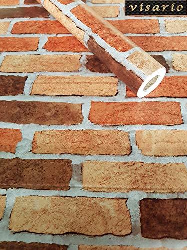 Visario Tapeten Folie 3000-S selbstklebend Steine Bunte Ziegel Dekor 10 m x 45 cm Dekorfolie Möbelfolie Tapete 3033