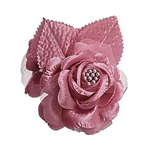 Silk Flower Arrangements 12 Silk Roses Wedding Favor Flower Corsage Pick - Mauve