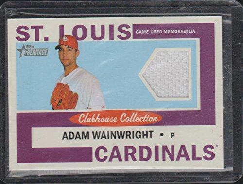 2013 Topps Heritage Adam Wainwright Cardinals Game Used Jersey Baseball Card #CCR-AW