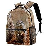 delayer Mochila de viaje backpack Linda marmota Mochila para portátil al aire libre de moda mochilas para niños y niñas