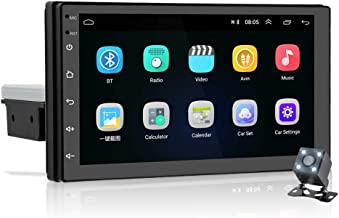 Hikity Android 9 Single Double Din Touch Screen Car Stereo 7 Inch Car Radio Bluetooth Hand-Free FM GPS Navigation WiFi Con...