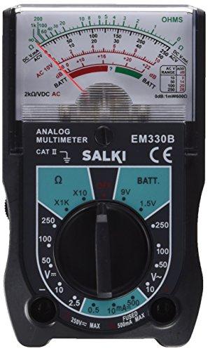 salki 8500213.0 8500213-Multímetro analógico, Metal, l