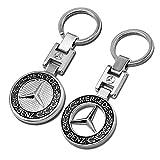 LONGSNOL 2 Pack CarKeyChain, Car Logo Key Chain Ring Emblem Pendant Decoration CarKeyChainsAccessories forWomen Man