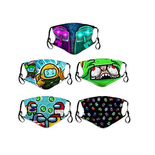 3D Video Game Kids Face Battle Adjustable Washable Reusable Cloth Cotton 5Pcs