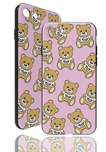 Teddy Bär Hülle [ Kompatibel mit Apple iPhone 7/8, Pink ] Toy Bear Case - Fühlbares 3D Motiv - Soft TPU Cover
