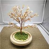 WERWER Árbol Creativo de Cristal Natural Consigue una decoración Rica en el árbol para la decoración del hogar Artesanía (Color : Army Green)