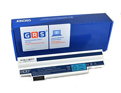 GRS Batterie UM09H31, pour Acer Aspire One 532h All, weiß 4400 mAh