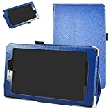 Mama Mouth vodafone Smart Tab Mini 7 / ALCATEL pixi 4 7 Funda, Slim PU Cuero con Soporte Funda Caso Case para 7' vodafone Smart Tab Mini 7 / ALCATEL pixi 4 7 Android Tablet 2016,Azul Oscuro