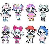 8 piezas LOL Dolls bordado para coser o planchar con lentejuelas, parche para ropa de jeans, accesorio de bricolaje