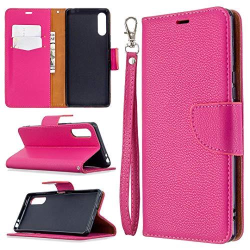 Hongjian Funda para Custodia para Sony Xperia L4 Flip Case Funda de cuero para Custodia por TPU silicona especial Case Cover 17