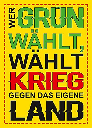 Aufkleber/Sticker - Wer grün wählt. (Sticker-Set 10 Stück)