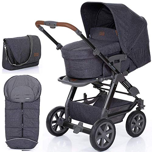 ABC Design Kinderwagen Tereno Air street 3 in 1 Set (inkl. Wickeltasche und Fußsack)