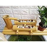 zenggp Wasserfontäne Aus Bambus Handgefertigte Wasserfontäne Für Den Garten , Innen- / Außenbrunnen,60cm