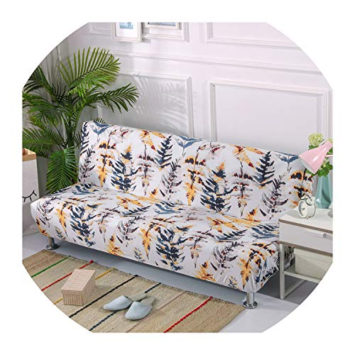 Nihaoma Europe Style Printed Armless Sofa Bed Cover Folding Seat Slipcovers Stretch Covers Couch Protector Elastic Bench Futon,K322,185-215Cm