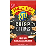 RITZ Crisp and Thins Original with Creamy Onion and Sea Salt, Family Size, 10 oz