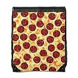 Mochila con cordón Pepperoni con diseño de pizza, bolsa de cordón, bolsa de la compra, bolsa de gimnasio, bolsa de cuerda