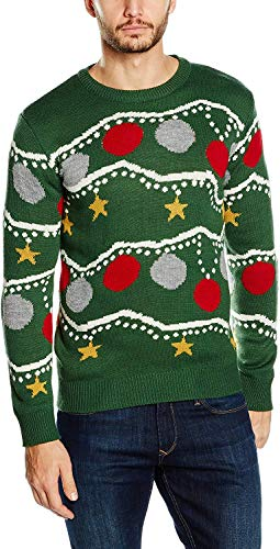 NIZZIN Unisexo Anemoon, suéter Hombre, Verde (Green), Large