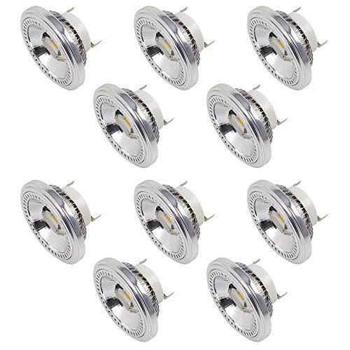 MENGS 10-er Pack G53 AR111 LED Strahler 2x COB 15W LED Leuchtmittel Ersatz für 120W Halogenlampen Neutralweiß 4000K AC 85-265V