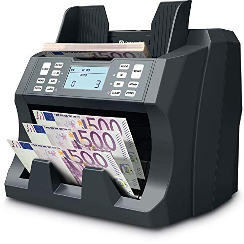 Detectalia V75 - Contador y detector de billetes clasificados por denominación para cualquier divisa - 27 x 21 x 24 cm
