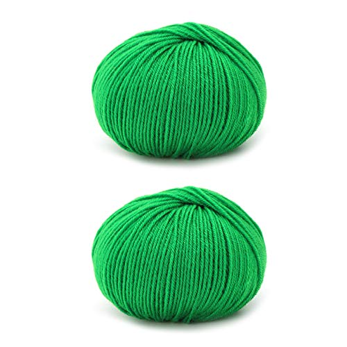 SAMZO 2pcs Handmade Acrylic Yarn Medium Thick Yarn Ball DIY Crochet Thread Soft Balls of Assorted
