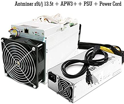 Bitmain AntMiner S9i/j 13.5TH/s @ 0.098W/GH 16nm ASIC Bitcoin Miner BTC Mining Machine with Power Supply
