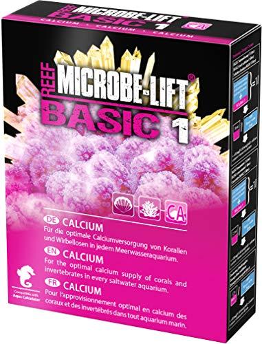 MICROBE-LIFT Basic 1 - Calcium - (Qualitäts-Calciumzusatz für jedes Meerwasser Aquarium, Pulverform, verwenbar für die Balling-Methode, Korallen Versorgung) 400 g.