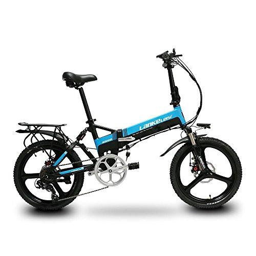 Buy VTSP G550 Electric Folding Bike Foldable Ebike 240W 48V 10AH Panasonic Lithium Battery Full Susp...