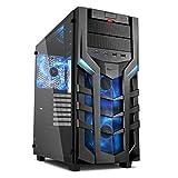 Sharkoon DG7000-G PC-Gehäuse mit extragroßem Seitenfenster aus gehärtetem Glas (2x USB 3.0, 2x...
