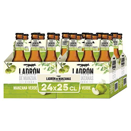 Ladrón de Manzanas Sidra con Manzana Verde - 4 Paquetes de 6 x 250 ml - Total: 7500 ml