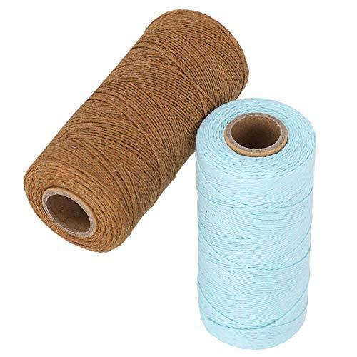 Fil de chaîne de métier à tisser 2 rouleaux, fil de chaîne 8/4 100% coton, fil de chaîne de métier à tisser parfait pour tisser des couvertures de tapis de tapis de tapisserie et d