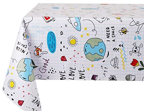 Vinylla - Mantel de PVC fácil de limpiar para niños