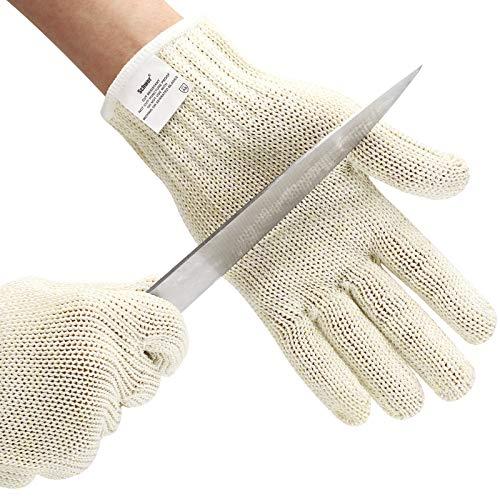 Schwer Level 8 Cut Resistant Gloves Mandoline Gloves Reliable Cutting Gloves Food Grade for Kitchen Mandoline Slicing, Meat Cutting, Oyster Shucking (L)