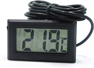 Sarplle digital termometer LED inbäddad temperatur testare med sond för kylskåp akvarium (induktionsledningslängd 5 meter)