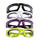 4Pairs Onion Glasses Kitchen Onion Glasses Eye Protector with Inside Sponge for Chopper Onion Tearless Dust-proof for Women Men Cleaning Kitchen Home Chopping Onion Cooking BBQ Grilling