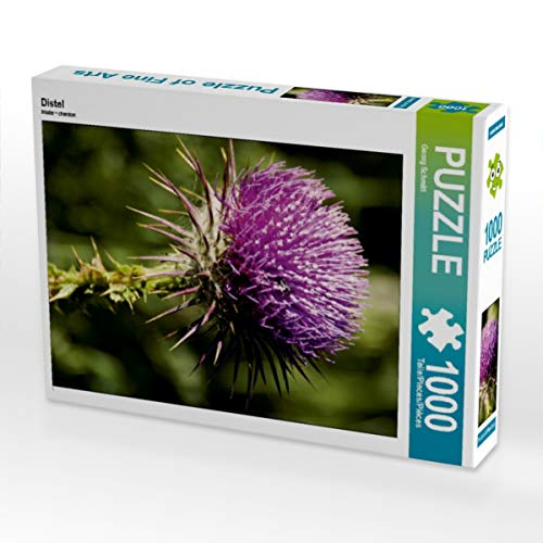 CALVENDO Puzzle Distel 1000 Teile Lege-Größe 48 x 64 cm Foto-Puzzle Bild von Georg Schmitt