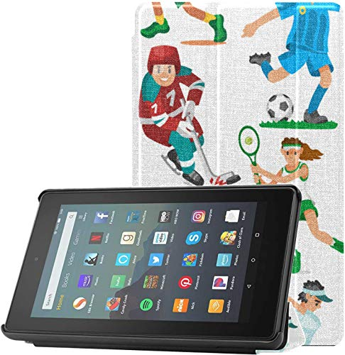 Cover KindleFireProtectorCase Sport Boy Cool Outdoor Acitive KindleFire7TabletCase9thGeneration for Fire 7 Tablet (9th Generation, 2019 Release) Lightweight with Auto Sleep/Wake