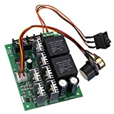 DC 12/24/36/48V 60A PWM DC Motor Speed Controller Pulse Width Modulation Regulator Stepless Variable Speed/Forward and Reverse Switch Pulse Width Modulation DC Speed Regulation