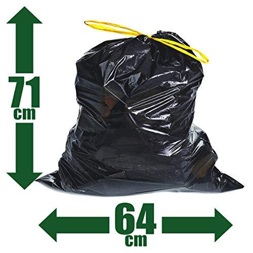 DanDiBo - 100 bolsas de basura de 60 l