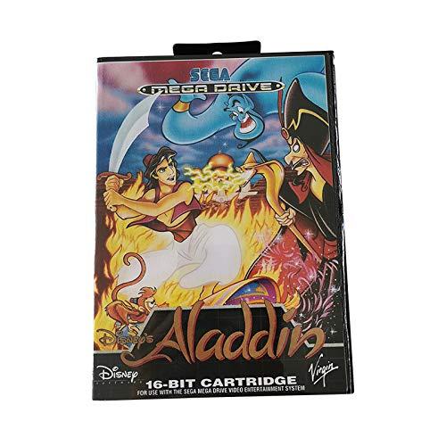 Sega Mega Drive Juego de Cartucho Aladdin Juego de Cartucho de 16 bits para máquina de Juego Sega