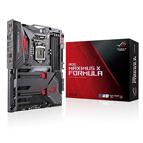 Asus ROG Maximus X Formula Gaming Mainboard Sockel 1151 (ATX, Intel Z370, Kabylake, 4x DDR4-Speicher mit 4133 MHz, Dual M.2 Sockel, Aura Sync, USB3.1 Gen2)