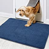 Color&Geometry Door Mat 60 X 90 cm, Doormat Dirt Trapper Non-slip, Machine Washable, Soft, Absorbent Entrance Rug Floor Mat for Eneryway, Patio, Hallway, Garden, Indoor and Outdoor (Blue)