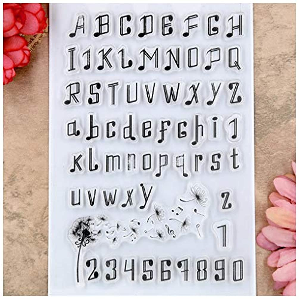 Kwan Crafts English Alphabet Letters Numbers Clear Stamps for Card Making Decoration and DIY Scrapbooking