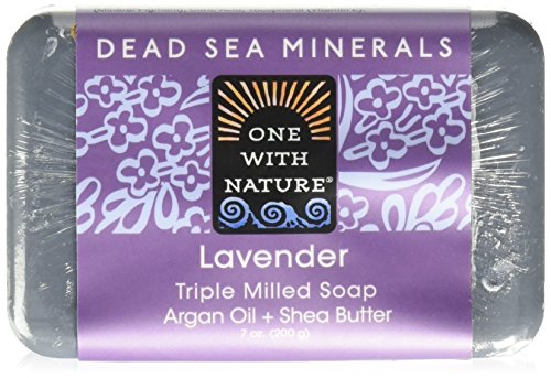 One With Nature Dead Sea Mineral Soap Lavender, 7 Ounce