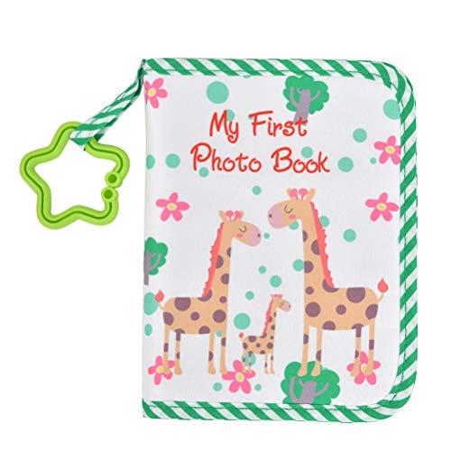 N\A Baby-Fotoalbum, erstes Fotoalbum, weiches Stoffbuch für Babys, niedliche Giraffe, Blau