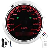 GPS Speedometer Odometer 200KM/H 0?999999KM LCD Display Speed Gauge IP67 Waterproof Multi?Function Meter for Car Motorcycles Ships
