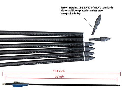 REEGOX Archery Arrows 30 inch Carbon
