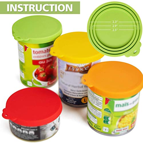 Fantastic Deal! HUTVD Pet Can Covers Universal Silicone Can Lids for Pet Food Cans Durable and Washa...