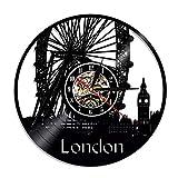 qweqweq Schallplatte Wanduhr UK England UK London Stadt