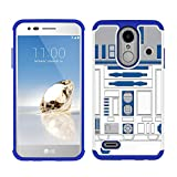 Sunshine_Tech Compatible for LG Aristo 2/ LG Tribute Dynasty/LG Fortune 2/Zone 4/LG K8 2018 - R2D2 Astromech Droid Robot Pattern Hard PC and Inner Silicone Hybrid Dual Layer Armor Defender Case
